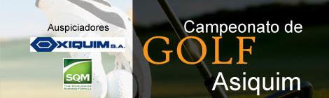 Campeonato de Golf ASIQUIM 2014 Copa Francisco Muñoz de la Rosa