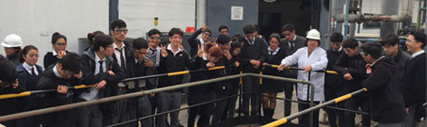 Visita a Clariant de profesores y alumnos del Liceo industrial Domingo Matte Pérez