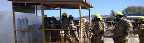 Brigada de Emergencias de Cloramon se Capacitó con Bomberos de chile