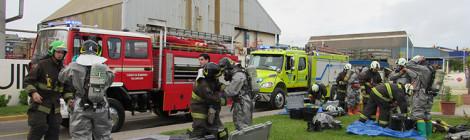 FOSFOQUIM realiza simulacro de emergencia con 4 compañías de bomberos