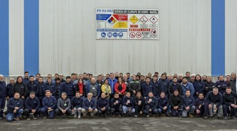 EKA Chile reconoce a sus trabajadores contratistas por 6 años sin accidentes